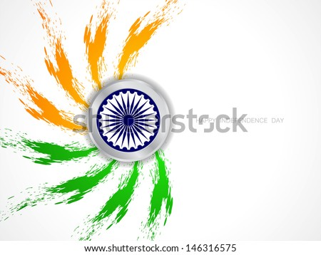 elegant grungy Indian flag theme background for independence day. - stock vector