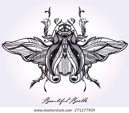 scarab design tattoo pictures to pin on pinterest. Black Bedroom Furniture Sets. Home Design Ideas