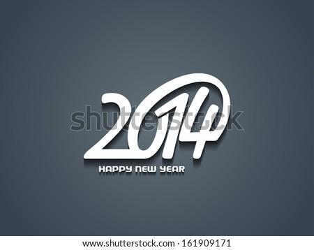 elegant happy new year 2014 design. - stock vector