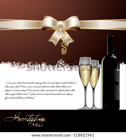 Elegant Invitation card - stock vector