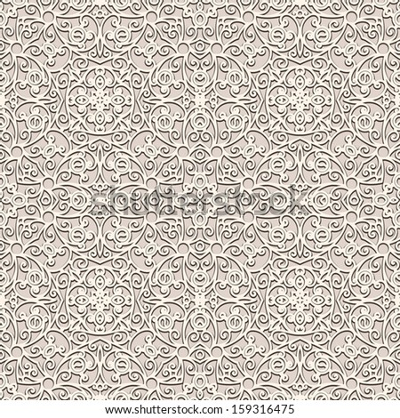 Elegant lace vector background, seamless pattern - stock vector