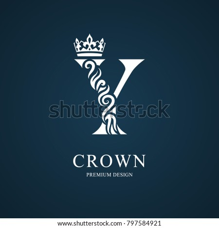 Elegant letter y crown graceful royal stock vector hd royalty free elegant letter y with crown graceful royal style calligraphic beautiful logo vintage drawn thecheapjerseys Images