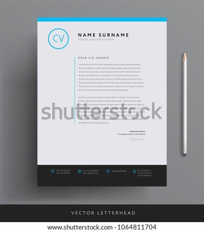 Elegant letterhead template design minimalist style stock vector elegant letterhead template design in minimalist style spiritdancerdesigns Gallery