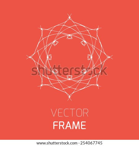 Elegant logo design, vector illustration  - stock vector