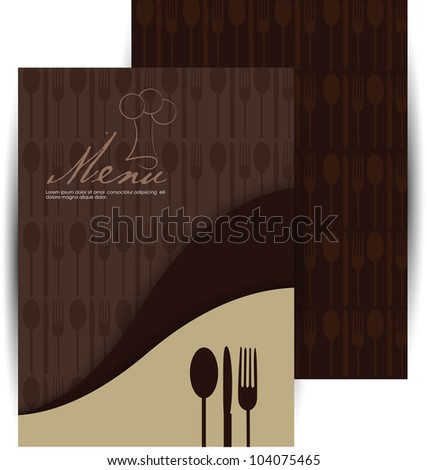 elegant menu design - stock vector