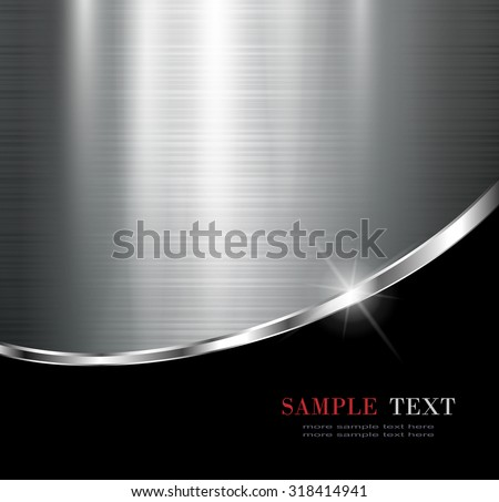 Elegant metallic background, vector design.