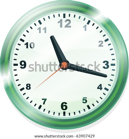 Elegant office clock - stock vector