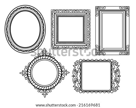 Elegant Ornate frames - stock vector