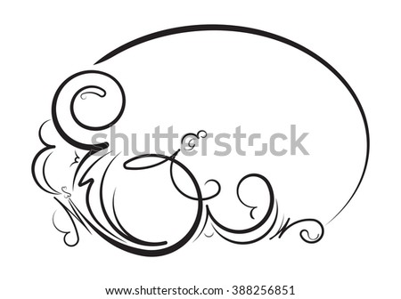 Elegant oval floral vector frame for your design or text. - stock vector
