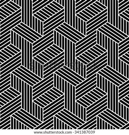 Elegant pattern. Black, seamless vector background. - stock vector