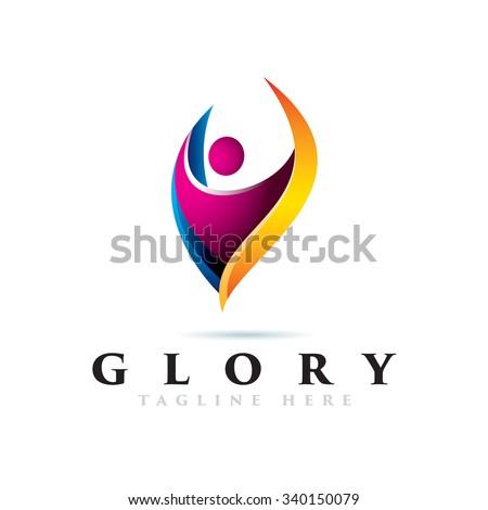 Elegant People icon Logotype Elements - stock vector