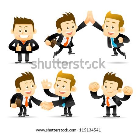 Elegant People Series -Businessman,cooperation set - stock vector