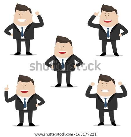 Elegant People Series | businessman set - stock vector