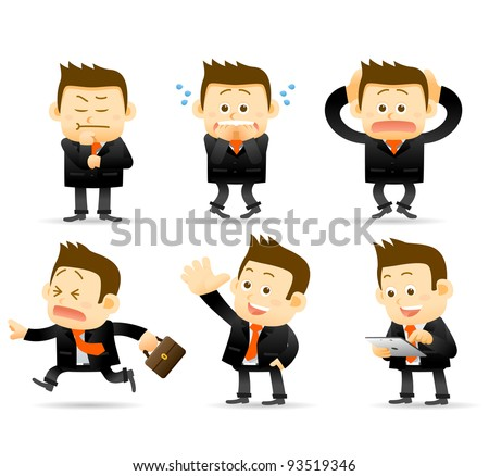 Elegant People Series | businessman set - stock vector