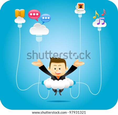 Elegant People Series | Personal Cloud Concept - stock vector