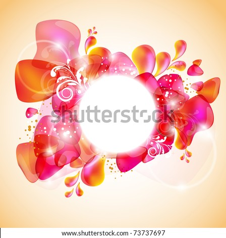 Elegant red frame with space for text - stock vector