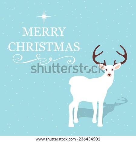 Elegant reindeer greeting card. Christmas and seasonal concept. - stock vector