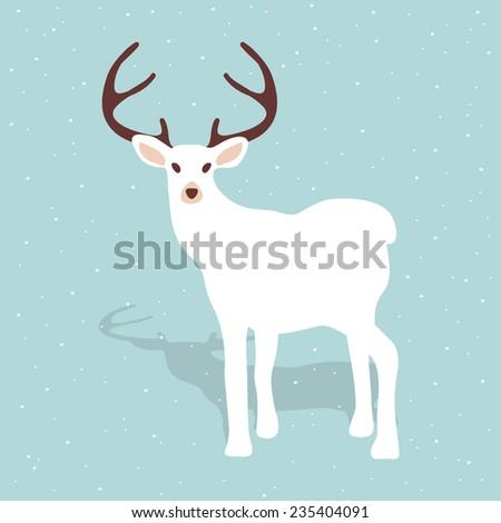 Elegant reindeer illustration. Christmas and seasonal concept. - stock vector