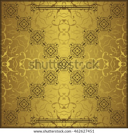 Elegant retro design. Vintage background with lace elements and place for text