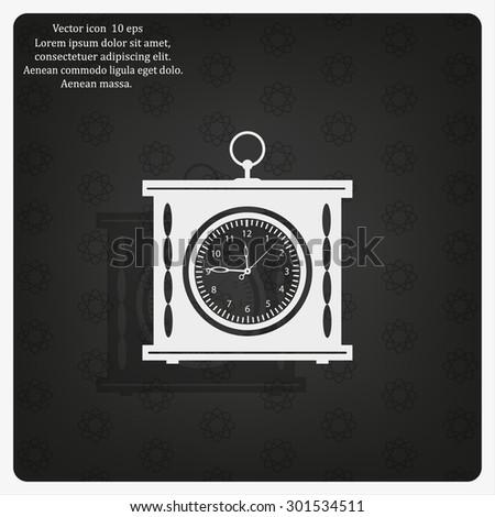 elegant roman numeral clock / vector illustration - stock vector