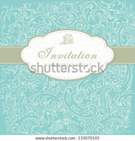 Elegant romantic invitation