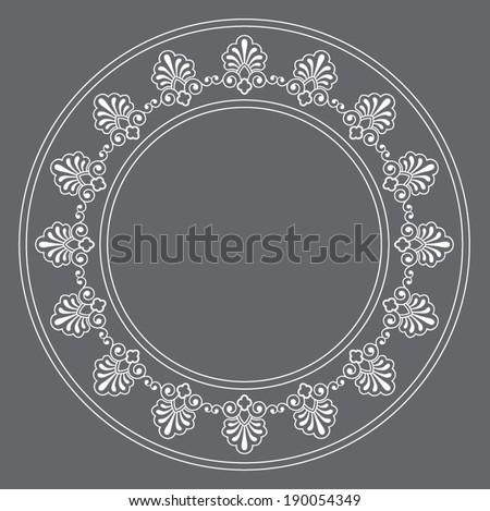 vector floral circle frame stock vector 39371377