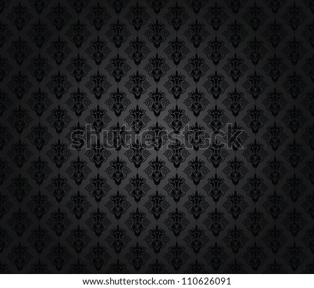 elegant seamless damask pattern black and grey