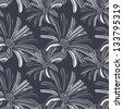 Elegant seamless pattern gerbera flower. Vector background. - stock vector