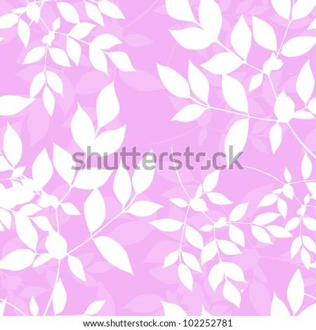 elegant seamless pattern in pink white colors for your design - stock vector