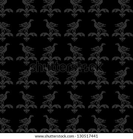 Elegant seamless pattern with eagles.You can change the background. - stock vector