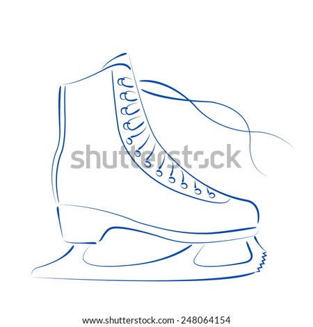 elegant sketched ice skates isolated on stock vector 248064154