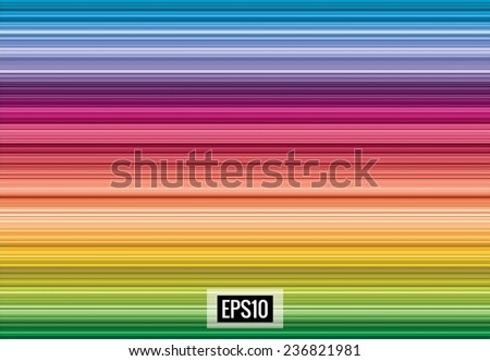 Elegant spectrum abstract background from horizontal lines, vector, eps10 - stock vector
