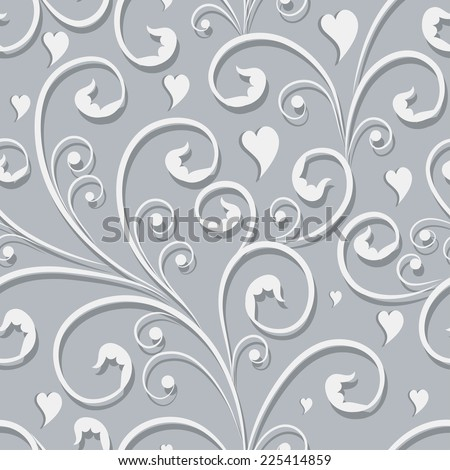 Elegant stylish abstract floral seamless pattern - stock vector