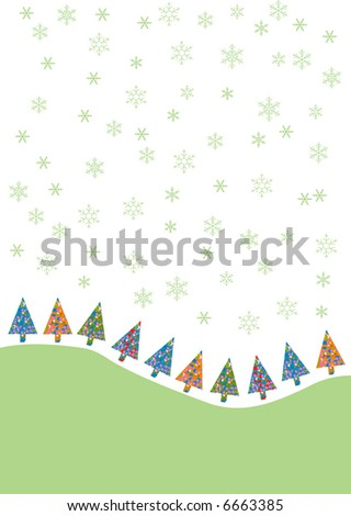 elegant stylized Christmas design illustration