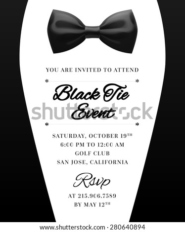 Elegant vector black tie event invitation stock vector hd royalty elegant vector black tie event invitation stopboris