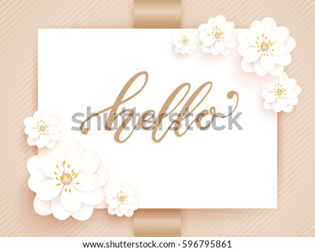 Elegant vector card vector invitation card stock photo photo elegant vector card vector invitation card with white background and frame with flower elements and stopboris Image collections