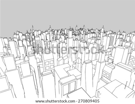 elegant vector city