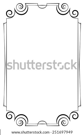 Elegant vector vertical frame on a white background