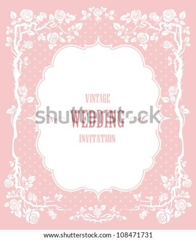 Elegant vintage background - stock vector