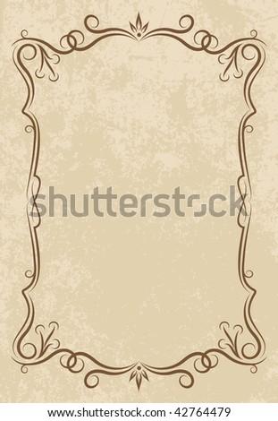 Elegant vintage background. - stock vector