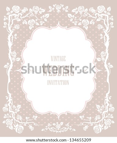 Elegant vintage background. For wedding or holiday with space for text - stock vector