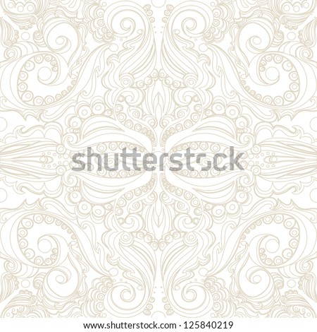 Elegant vintage background. Seamless pattern. - stock vector