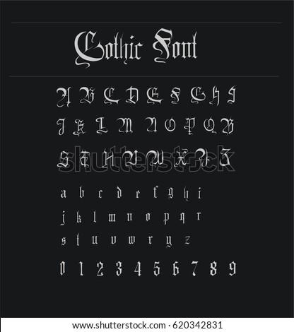 Old English Alphabet Gothic Stock Images, Royalty-Free ...