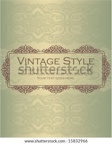 Elegant vintage style design element - stock vector