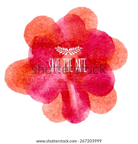 Elegant watercolor card, design elements. Can be used for wedding, baby shower, mothers day, valentines day, birthday cards, invitations, banners, flyers, gift wrap, print, manufacturing - stock vector