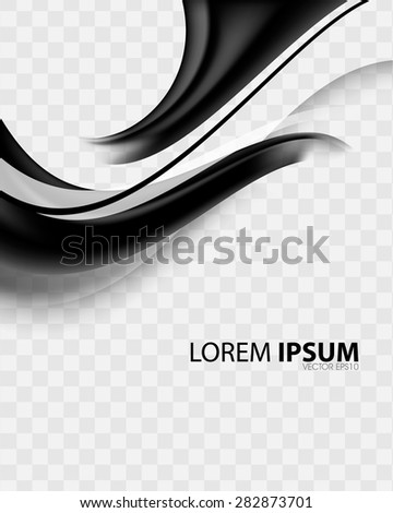 elegant wave flow bend black checkered elements business background eps10 vector - stock vector