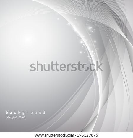 Elegant Wavy Background  - stock vector