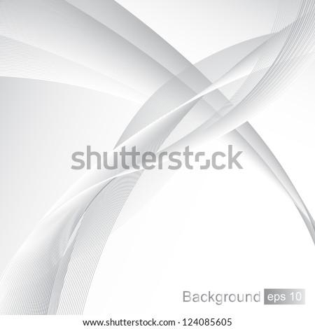 Elegant Wavy Background - Vector illustration. Beautiful background for your design - stock vector