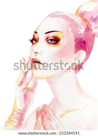 Elegant woman - stock vector
