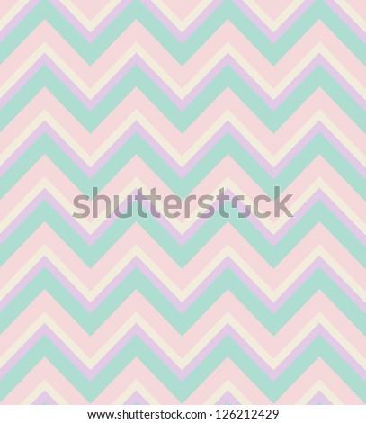 Elegant zigzag seamless pattern. Chevron pattern in pastel colors. Vector illustration - stock vector